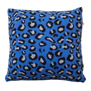 KIDFOLK LEOPARD CUSHION - BLUE