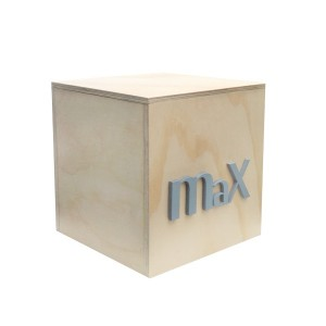 """""""NATURAL PLYWOOD"""" 25CM GIFT/TOY BOX"""