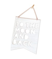 HOMELY CREATURES WHITE TO THE MOON AND BACK BANNER