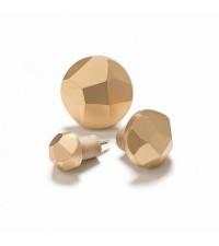 SMALL DIAMOND CUT WOOD DISPLAY HOOK, GOLD