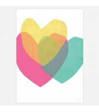 SEVENTY TREE BRIGHT HEARTS PRINT