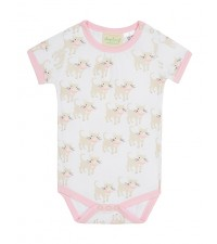 SAPLING CHILD EL GATO PRINT SHORT SLEEVE BODYSUIT