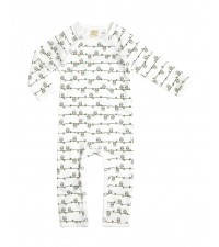 SAPLING CHILD OWL ON BRANCH PRINT ZIP ROMPER
