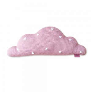 HOMELY CREATURES PINK KNITTED CLOUD CUSHION