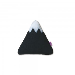 HOMELY CREATURES SMALL BLACK MOUNTAIN CUSHION