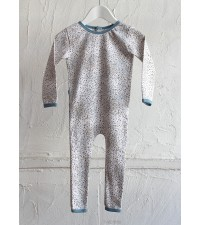 SUNDAY THE LABEL ALL IN ONESIE, GREY/BLUE  SPRINKLES
