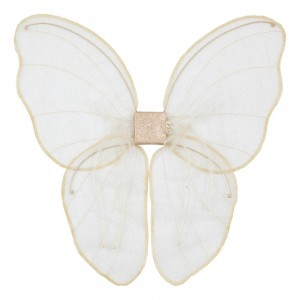 LAST ONE, NUMERO 74 FAIRY WINGS, WHITE AND GOLD GLITTER
