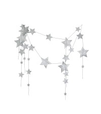 NUMERO 74 FALLING STAR GARLAND, SILVER