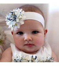 FAWN AND MILK BO BETTY BLUE HEADBAND